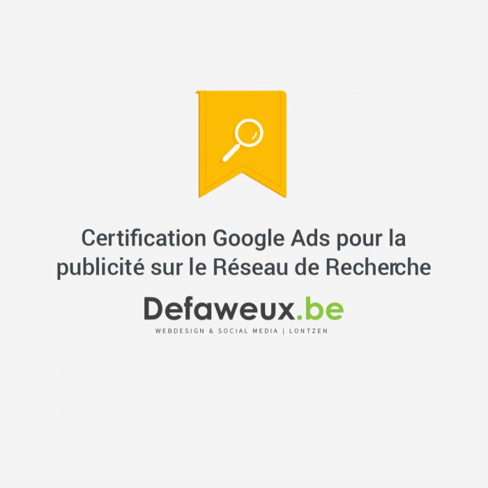 Notre certification Google Ads (Adwords)