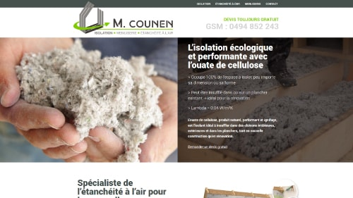 Aperçu du site internet de Michel Counen