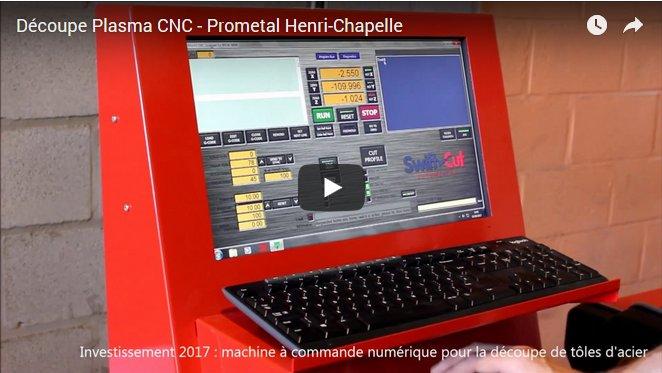 Découpe CNC plasma à Henri-Chapelle par la société de construction métallique ProMetal