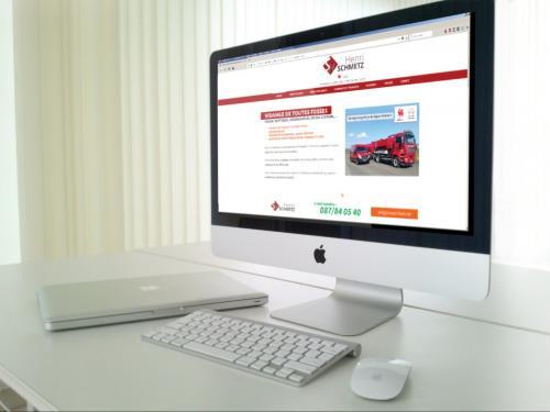 Réalisation d'une refonte complète du site internet de la société de vidange Henri Schmetz SPRL à Moresnet