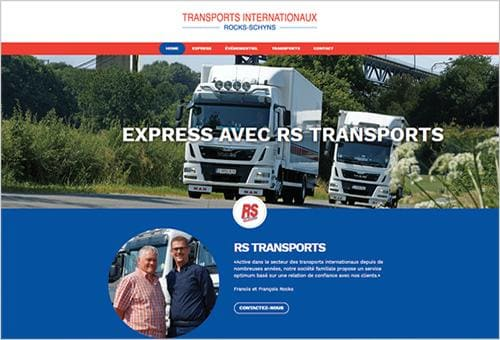 Aperçu du site internet de RS Transports